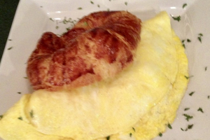 3 Egg Omelette on a Perfect Butter Croissaint - delivery menu