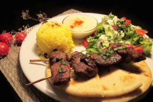 Lamb Kebab Plate - delivery menu
