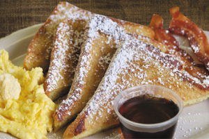 French Toast Eggs and Bacon - delivery menu