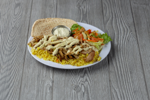 Chicken and Rice Plate - delivery menu
