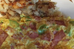Avocado, Turkey Bacon and Cheese Omelette - delivery menu
