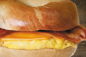 Bacon, Egg and Cheese Sandwich - delivery menu
