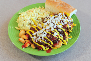 Cheeseburger Plate - delivery menu