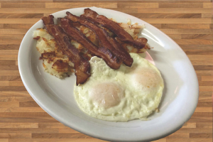 2 Eggs with Bacon Platter Breakfast - delivery menu