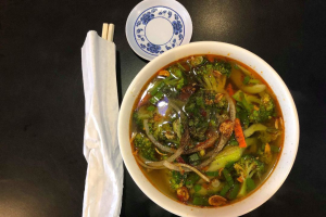 5. Vegetable and Tofu with Veggie Broth Soup (Spicy Broth) - delivery menu