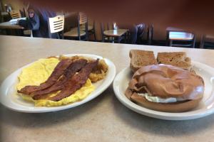 2 Eggs with Turkey Bacon breakfast - delivery menu