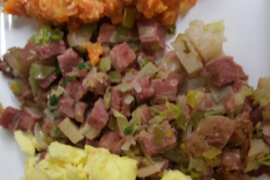 Corned Beef Hash and Eggs - delivery menu