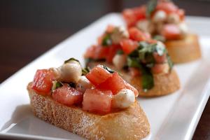Garlic and Mozzarella Bruschetta - delivery menu