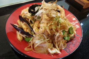 Spicy seafood yaki ramen (brothless) - delivery menu
