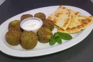 Falafel Balls with Tzatziki Sauce & Pita - delivery menu