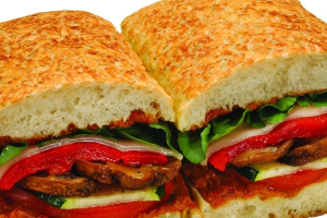 2V. Grilled Vegetable and Goat Cheese Sandwich - delivery menu