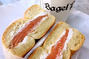 Bagel with Nova Scotia Lox and Cream Cheese - delivery menu