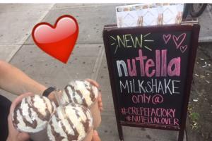 Nutella Milkshake - delivery menu