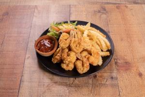 1. 10 Battered and Fried Butterfly Shrimp Platter - delivery menu