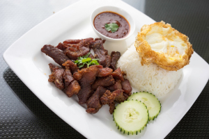 46. Jerky over Rice with Fried Egg - delivery menu