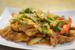 E5. Pad Prik Khing - delivery menu