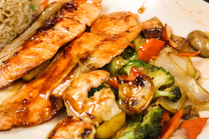 Hibachi Salmon - delivery menu