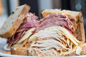 11.  Fresh Roasted Turkey, Tongue and Swiss Sandwiched - delivery menu