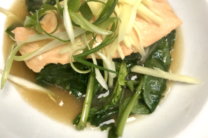 Steamed Salmon Dinner - delivery menu