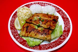 42. Salmon Steak Plate - delivery menu