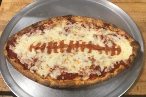 NEW FOOTBALL SHAPE PIZZA - delivery menu