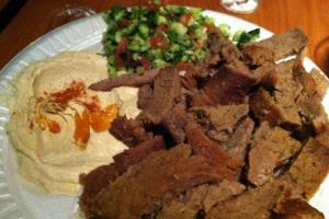 Beef Shawarma Gyros Plate - delivery menu