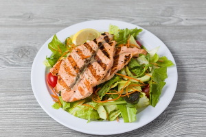 G2. Grilled Salmon Salad - delivery menu
