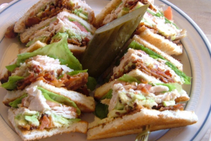 Turkey Club and french fries - delivery menu