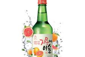 Grape Fruit SOJU JINRO Chamisul  참이슬소주자몽맛 - delivery menu