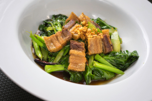 54. Crispy Pork with Chinese Broccoli - delivery menu