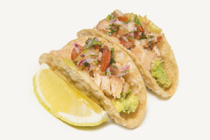 Teriyaki Salmon Taco - delivery menu