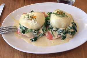 Smoked Salmon Benedict Brunch - delivery menu