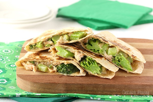 Q3. Chicken and Broccoli Quesadilla - delivery menu