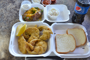 5 Piece Steaked Catfish Combo Meal - delivery menu