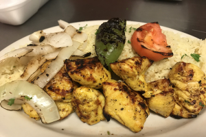 Chicken Kabob Entree - delivery menu