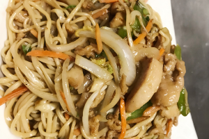 34. Shredded Chicken with Fried Hand Pull Noodle - delivery menu