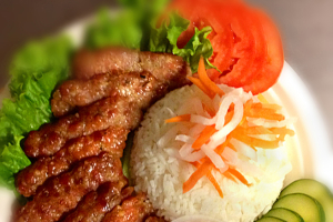 Grilled Pork Patties Rice Plate - delivery menu