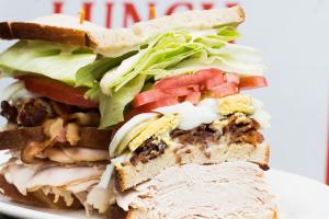 I. Fresh Sliced Roasted Turkey, Sliced Egg and Bacon Sandwich - delivery menu