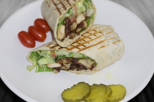 Chicken & Pasramid wrap - delivery menu