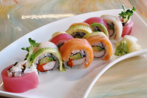 115. Rainbow Roll - delivery menu