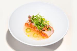 Hamachi Yuzu Sashimi - delivery menu