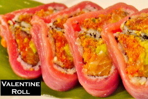 Raw Valentine Roll - delivery menu