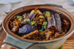 70. Quart of Beef with Eggplant in Garlic Sauce - delivery menu
