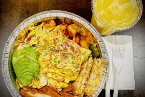 Pastrami Omelette Platter  - delivery menu