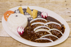 45. Enchiladas con Mole Poblano - delivery menu