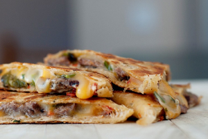 Q2. Steak Quesadilla - delivery menu