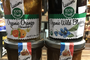 Lucien 100% fruit organic preserves - delivery menu