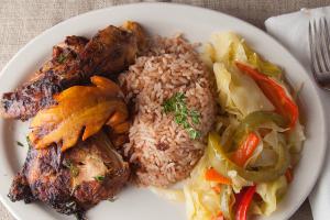 Large Jerk Chicken Dinner - delivery menu