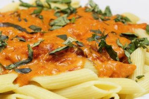 Pasta with Creamy Tomato Sauce - delivery menu