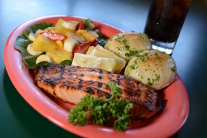 Mesquite Grilled Fresh Salmon - delivery menu